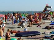 Отдых на море в Геническе на детском пляже, отдых для детей на Азовском море, где отдохнуть с детьми на море