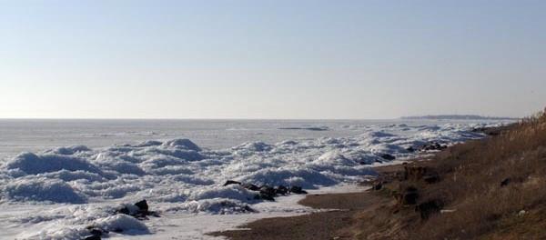 Азовское море зимой. Зимние фотографии.
