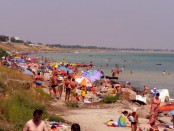 отдых на Азовском море, отдых в Геническе, Генический дикий пляж, безопасность на воде, пляж на Азовском море