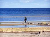 отдых в Геническе на Азовском море, отлив, меляки, отдых на Арабатской стрелке 2014