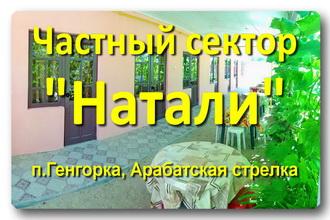 Частный сектор «Натали»